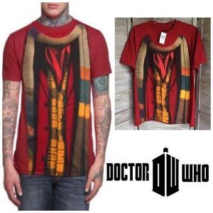 DOCTOR WHO T-shirt 4th Dr TOM BAKER Tee